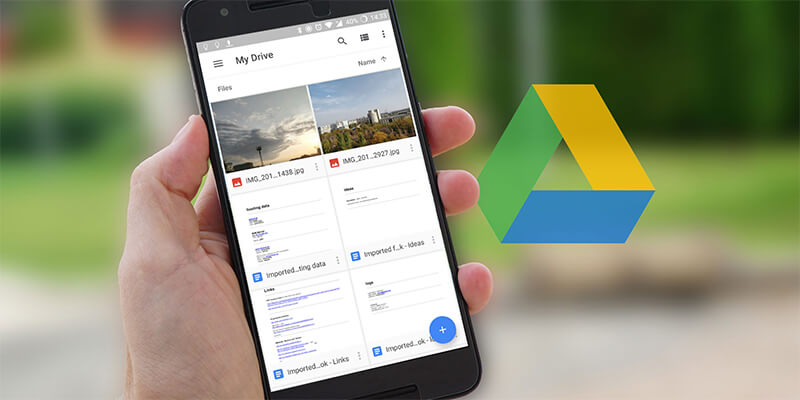 Google Drive Android Banner - بنر گوگل درایو اندروید